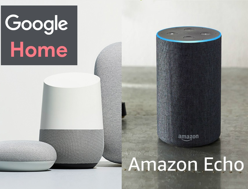 google home and amazon echo are voice assistant devices